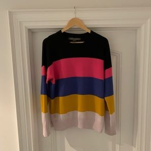 French Connection colour block sweater - L